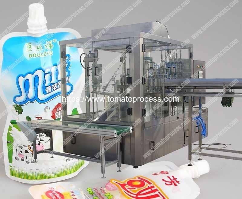 Automatic-Spout-Pouch-Feeding-Liquid-Filling-Capping-Machine