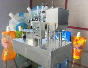 Manual-Spout-Pouch-Feeding-Tomato-Ketchup-Filling-Capping-Machine
