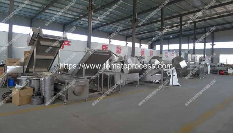 Tomato-Cutting-Machine-Production-Line-Factory-Visit-Romiter-Machinery