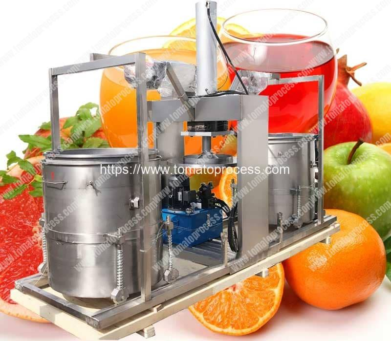 Double-Drum-Hydraulic-Type-Tomato-Juice-Pressing-Squeezing-Machine