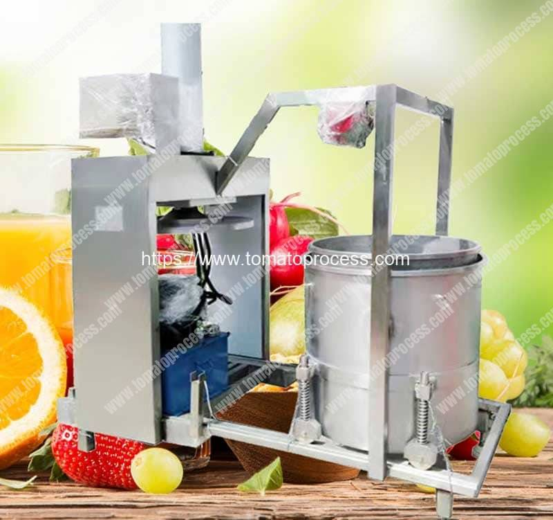 Hydraulic-Type-Single-Drum-Automatic-Discharge-Tomato-Juice-Pressing-Squeezer-Machine
