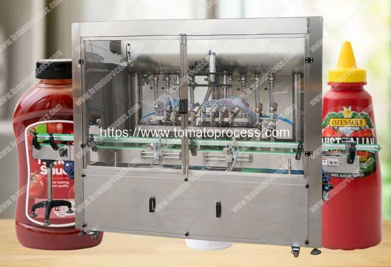 Full-Automatic-Tomato-Sauce-Bottle-Filling-Capping-Machine