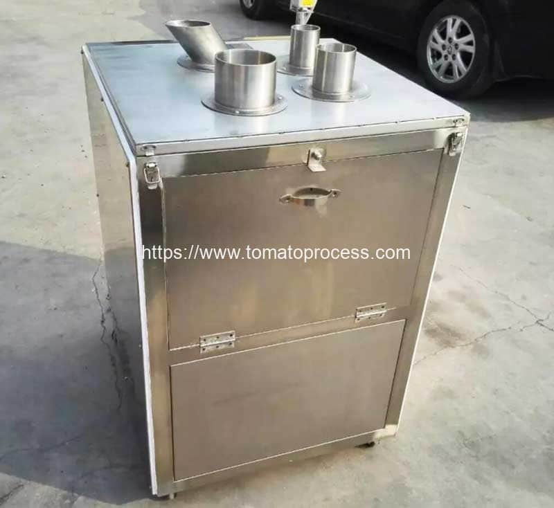 Vertical-Tube-Feeding-Tomato-Chip-Cutting-Machine