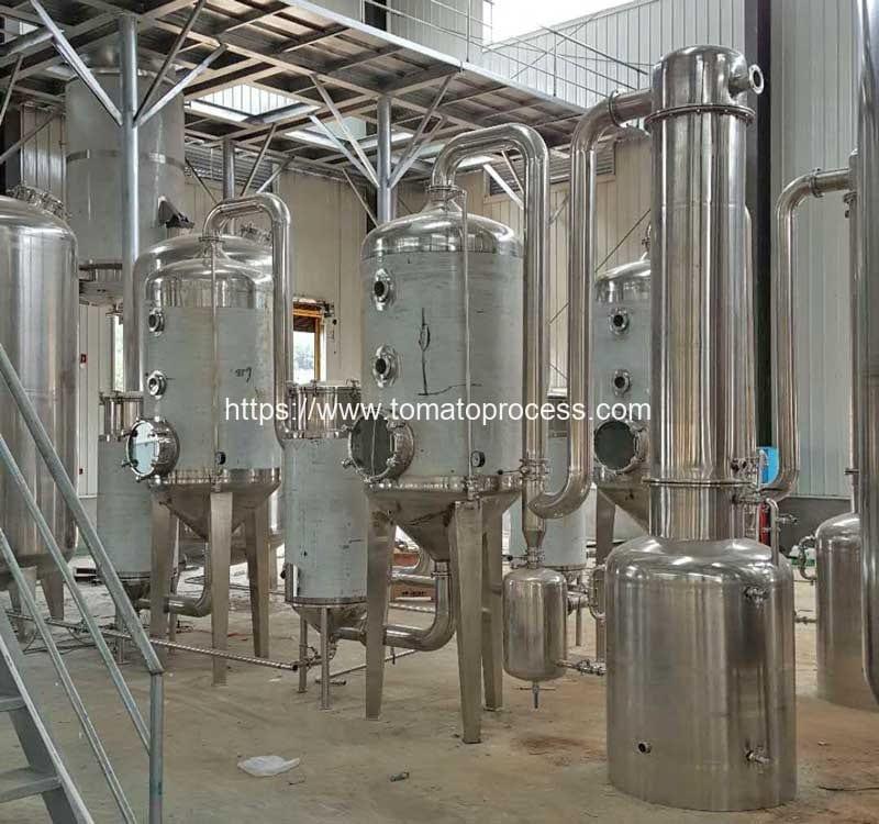 Continuous-Tomato-Sauce-Vacuum-Evaporation-Machine
